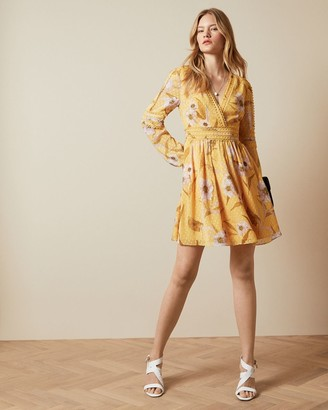Ted Baker Cabana Long Sleeve Mini Dress