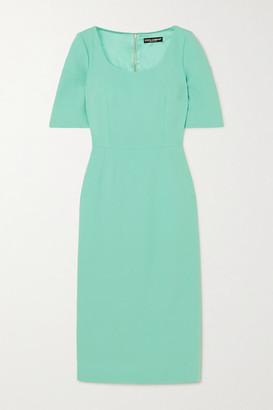 Dolce & Gabbana Crepe Midi Dress - Turquoise