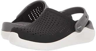 Crocs LiteRide Clog (Little Kid/Big Kid) (Black/White) Kid's Shoes