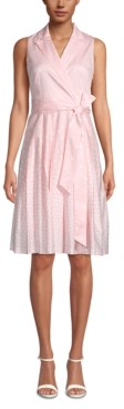 Anne Klein Notch-Collar Wrap Dress
