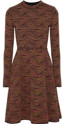 M Missoni Flared Crochet-knit Wool-blend Dress