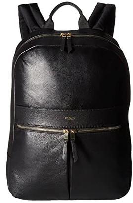 Knomo London Mayfair Luxe Beaux Backpack (Black) Backpack Bags