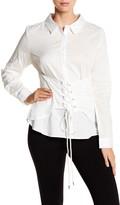 June & Hudson Shadow Stripe Corset Long Sleeve Shirt