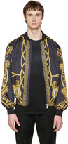 Versace Reversible Black 'Coup De Dieu' Jacket