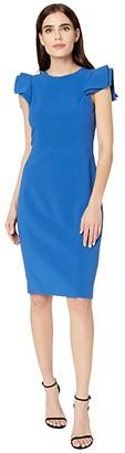 Halston Slim Fit Dress (Cobalt) Women's Dress