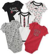 Calvin Klein Baby Boys' 5-Pk. Printed Bodysuits