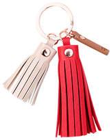Caroline Gardner Metallics Tassel Keyring, Red