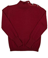 Lanvin EMBELLISHED TURTLENECK SWEATER-BURGUNDY SIZE 10