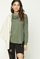 Forever 21 FOREVER 21+ Marled Cowl Neck Sweater