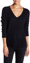 Susina Skinny Cable Knit Cashmere Pullover Sweater