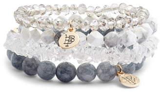 Bourbon And Boweties Set of 4 Beaded Stretch Bracelets