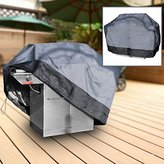 """North East Harbor Premium Waterproof Barbeque BBQ Grill Cover Large 64"""" Length Dark Grey with Black Hem - 100% Waterproof Barbecue Propane Gas Grill Winter Storage Cover"""