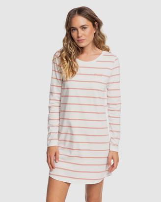 Roxy Womens Light Mist Long Sleeved T Shirt Dress