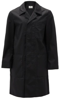 Acne Studios Patch Pocket Single-breasted Cotton Overcoat - Mens - Black
