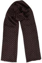 Jigsaw Geo Print Silk Scarf, Sienne