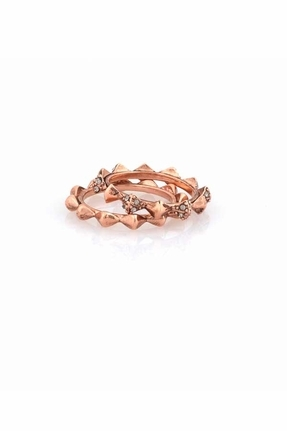 House Of Harlow Spike Stack Ring in Rose Gold