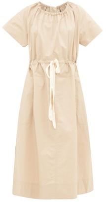 BEIGE Lee Mathews - Workroom Drawcord Cotton-poplin Dress - Womens