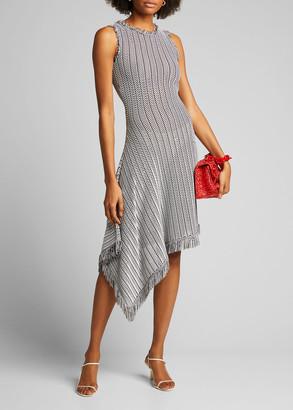 Oscar de la Renta Tuextured-Knit Asymmetric Dress