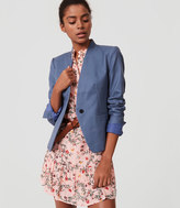 LOFT Tall Basketweave Collarless Blazer