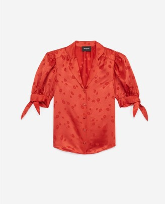 The Kooples Sleeveless smart orange shirt