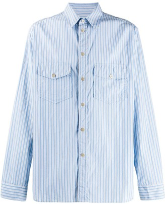 Gucci Pinstriped Long-Sleeved Shirt