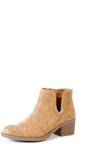 Qupid Camel Philly Cutout Boots