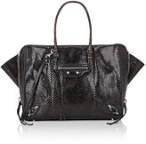 Balenciaga Women's Papier B4 Python Side-Zip Tote Bag
