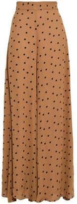 Paper London Kelly Polka-dot Crepe Wide-leg Pants