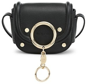 See by Chloe Mini Mara Leather Saddle Bag
