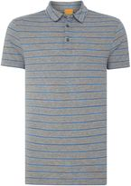 HUGO BOSS Men's Regular Fit Short-Sleeve Stripe Polo Shirt