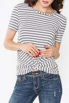 Sugar Lips Twist Hem Stripe Top