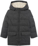 Petit Bateau Faux fur-lined padded coat