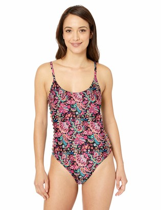 Sunsets Women's Borderline One Piece Swimsuit with Strappy Sides