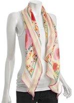 Diane Von Furstenberg pink splatter silk chiffon scarf
