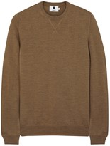 Nn.07 Barca Brown Fine-knit Wool Jumper