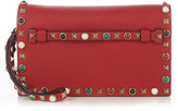 Valentino Rockstud Rolling leather clutch