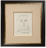"""Munn Works Pablo Picasso, """"Pour Roby,"""" Framed Etching"""