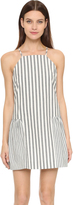 Milly Breton Stripe Ruffled Hem Dress