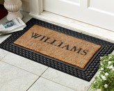 Williams-Sonoma Personalized Basketweave Rubber & Coir Doormats