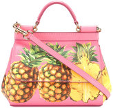 Dolce & Gabbana pineapple print Sicily shoulder bag - women - Leather - One Size