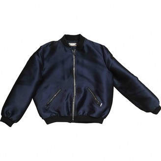 Alexis Mabille Blue Leather Jacket for Women