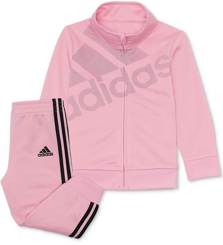 Adidas Pink Jacket Infant Girls Size 18 Months Zip Up Track Jacket Girls' Clothing (newborn-5t) Outerwear