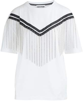 Each Other Top with cotton fringe