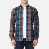 Paul Smith Men's Tailored Fit Checked Long Sleeve Shirt Multi