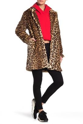 Blanknyc Denim Note To Self Leopard Print Faux Fur Jacket
