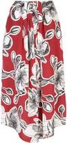 Stine Goya Dahlia-print silk skirt