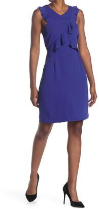 trina Trina Turk Avebury Ruffled Sheath Dress
