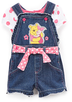Children's Apparel Network Winnie The Pooh Pooh & Piglet Shortalls & Tee - Infant & Toddler