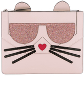 Karl Lagerfeld Women's K/Kocktail Choupette Big Pouch Sea Shell