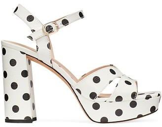 Kate Spade Delight Polka Dot Leather Platform Sandals